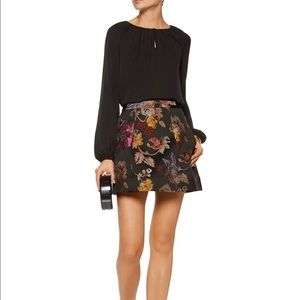 Alice + Olivia Loran brocade mini skirt